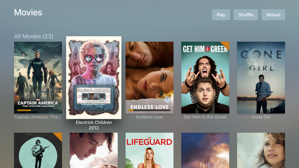 Plex: Movie list