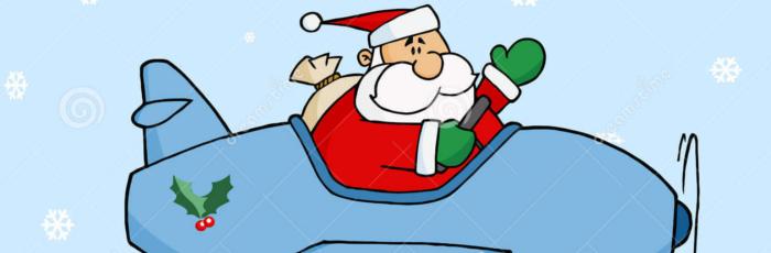 Santa, Planes, and Snow!